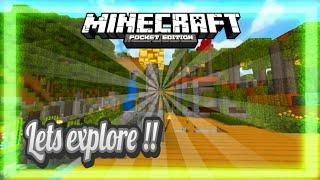 LETS EXPLORE MY SURVIVAL WORLD || Minecraft Cinematic