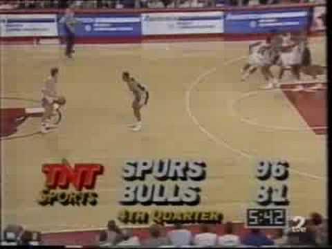 Spurs @ Bulls 1990-91: Michael Jordan 39 points, 9 assists.