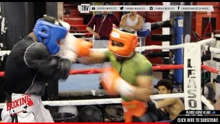 Brutal Bloody Sparring Shawn Porter vs Chordale Booker @ Gleason Gym NYC