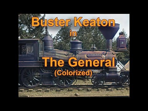 Buster Keaton: The General 1926 Colorized with Deep Learning AI(Re-upload uncompress)