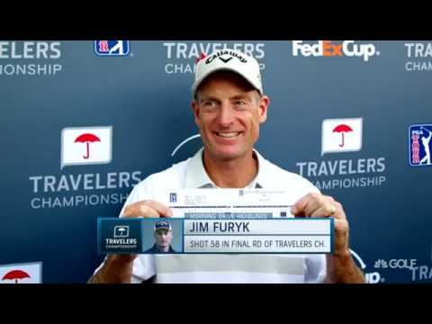 Jim Furyk fires record breaking 58 at the Travelers Championship | Golf Channel