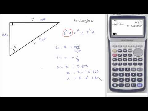 Trigonometry: Finding Angles In Right-angled Triangles