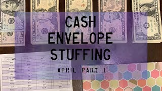 Cash Envelope Stuffing, April pt. 1 & GIVEAWAY WINNERS! | BudgetWithBri