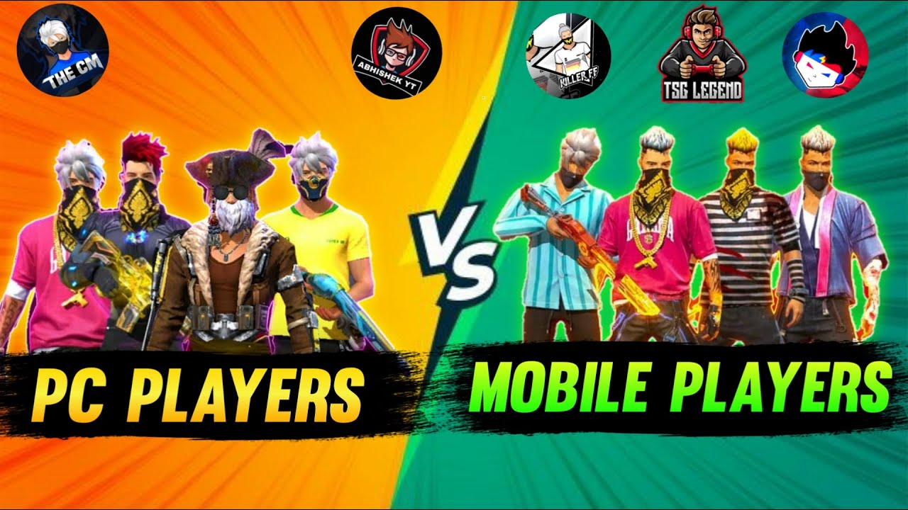 Free Fire Pc Players Vs Mobile Players Custom Battle 4 versus 4 -Garena Freefire