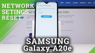 How To Reset Network Settings in SAMSUNG Galaxy A20e - Restore Network Options