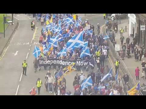 Independence March through Glasgow