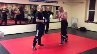 Kickboxing class @ Evade Blackbelt School