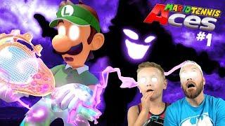 Scary Luigi! Mario Tennis Aces Adventure Gameplay for Nintendo Switch Part 1!