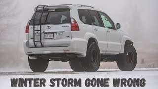Winter Storm Gone Wr๐ng - Bus Rescue | TOP 5 Lexus GX470 Off-Road Build Pros & Cons