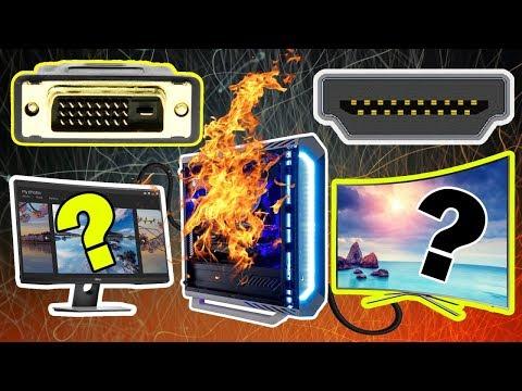 Что будет, если два кабеля с компьютера подключить к монитору и к телевизору