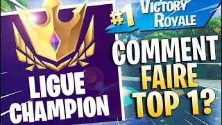 COMMENT FAIRE TOP 1 EN TOURNOI SUR FORTNITE ET ARRIVER EN LIGUE CHAMPION ! - CONSEILS ET ASTUCES