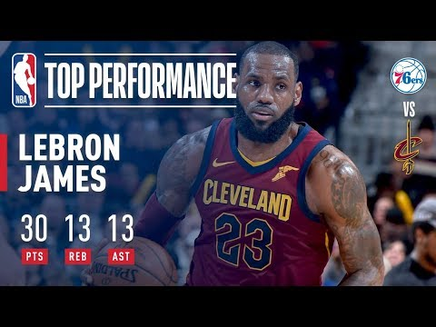 LeBron James Gets 30-Point Triple-Double in Win vs. 76ers   December 9, 2017