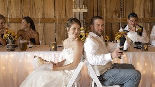 The Newlywed Game at a Wedding (The Shoe Game)