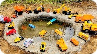 Carros de Construcción para Niños en el Agua - Construction Vehicles Toys for Kids