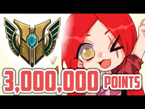WHAT A 3,000,000 MASTERY POINT KATARINA CARRY LOOKS LIKE - Clutch 1v3 - 10 CS Per Minute | Katlife