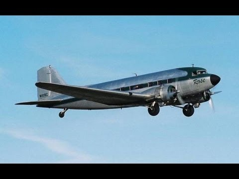 "Flight in Douglas DC-3 / C-53 ""ROSE"" N101KC 2004 LAX Airliners International Hawthorne Airport"