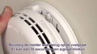 Batterij rookmelder vervangen