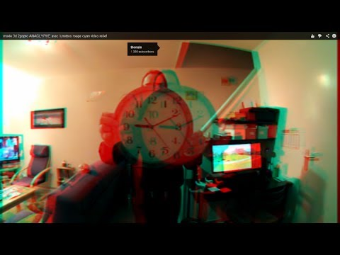 movie 3d 2gopro anaglyphe avec lunettes rouge cyan video relief youtube. Black Bedroom Furniture Sets. Home Design Ideas