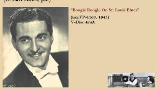 Paul Baron Orch. (ft. Earl Hines). Boogie woogie on st. louis blues (1945)