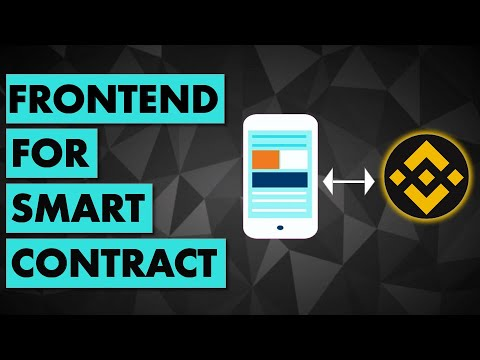 Connect a Frontend to Smart Contract on Binance Smart Chain (JavaScript to Solidity)