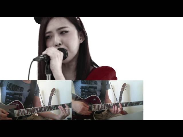 Guitar guitar cover with tabs : BAND-MAID Thrill スリル Guitar cover with Tabs - YouTube