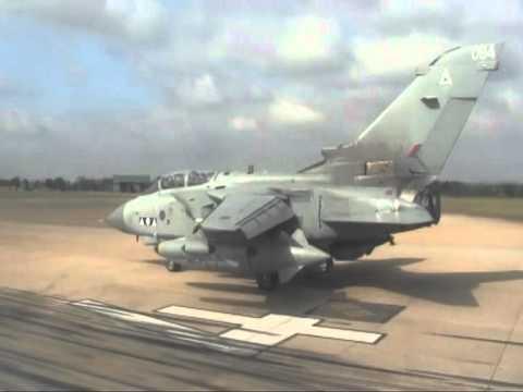 TORNADO GR4 TAKE OFF FROM RAF MARHAM - OP ELLAMY