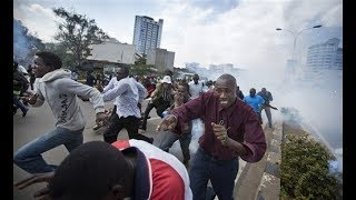 BREAKING NEWS: Police engage protesting Marikiti traders in running battles