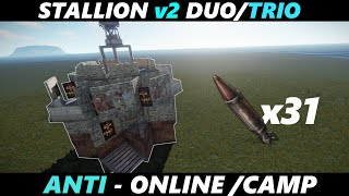Solo/Duo/Trio Modular Rust Base Design 2019: Anti Doorcamp/Online Raid! (23 Rockets to TC minimum)