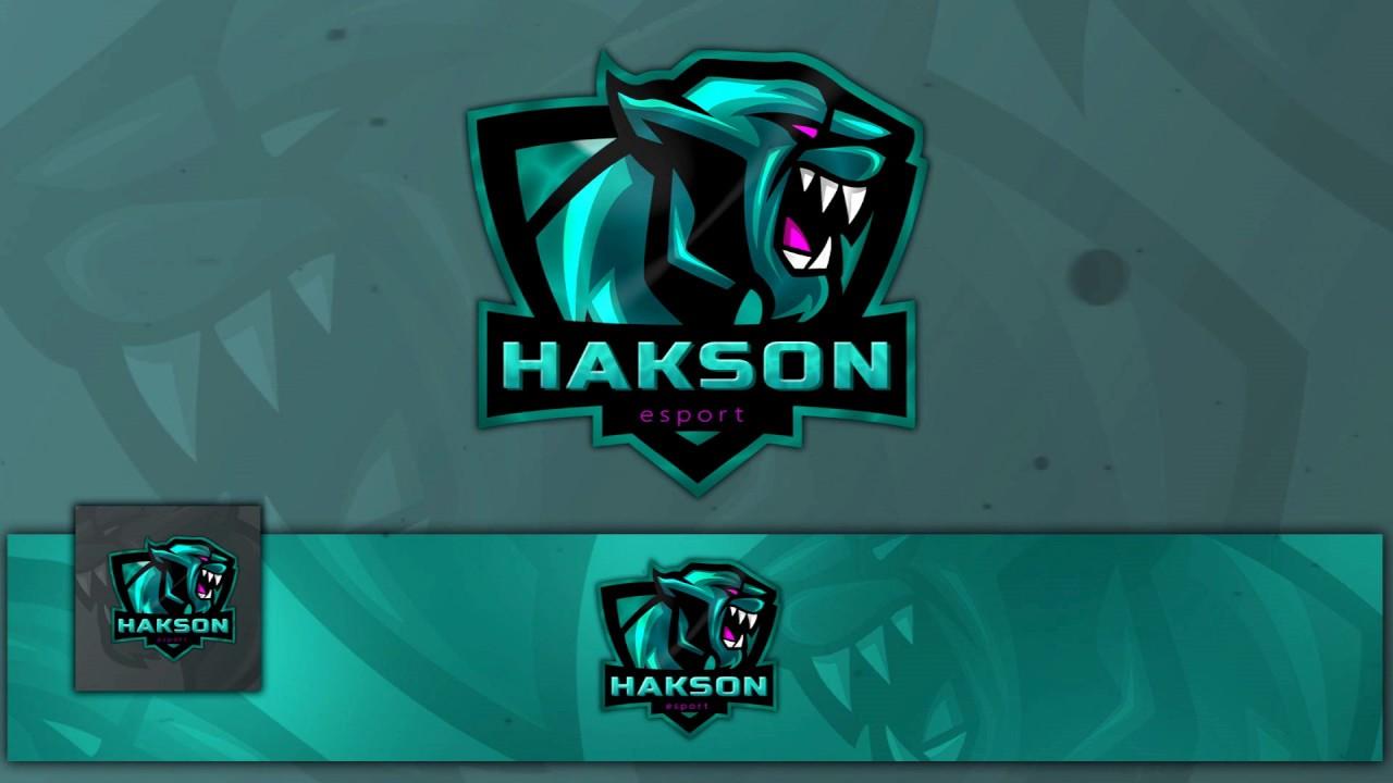 free mascot logo gaming e sport banner avatar free logo template youtube. Black Bedroom Furniture Sets. Home Design Ideas