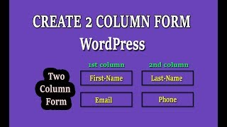 How To create 2 column responsive forms use gravity form on WordPress । Two column forms wordpress