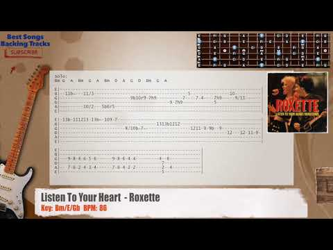 Listen To Your Heart - Roxette Guitar Backing Track with chords and ...