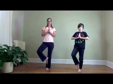 5 Minute yoga break - Breath of Joy, Milkshake, 1 minute Tree Pose Challenge