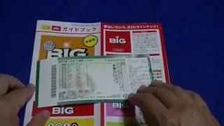 宝くじ スポーツ振興くじBIGを買ってみた!A lottery  Lottery for sports development BIG was bought!