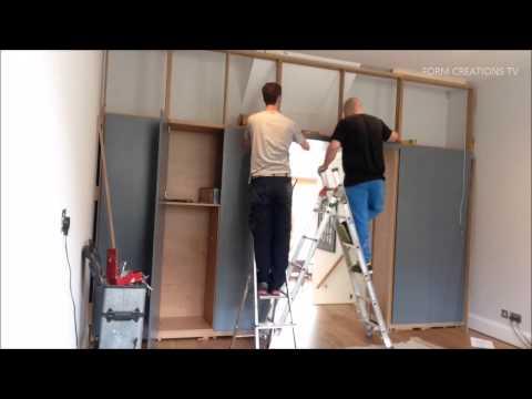 Super Fast Full Wall Cabinet Installation