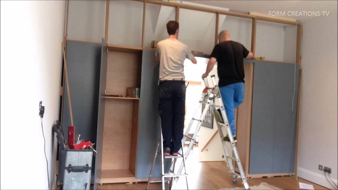 Super Fast Full Wall Cabinet Installation