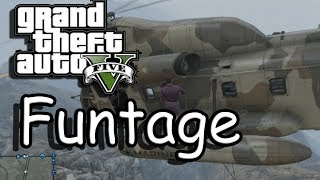 Gta V: Funtage #5 (Police hold-off, cargobob surfing and more!)