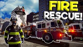 FIGHTING FIRES IN NEW YORK CITY! - EmergeNYC Gameplay - Fire Fighter Simulator