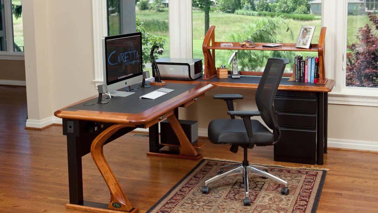 work desks for office. Caretta Workspace - Hardwood Cable Management Desks For Work Or Office S