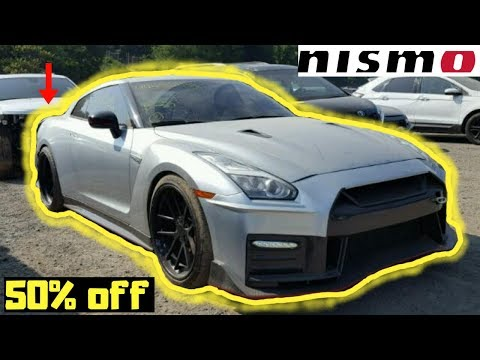 Cheapest Wrecked Nismo Nissan GTR at Copart. Copart Walkaround.
