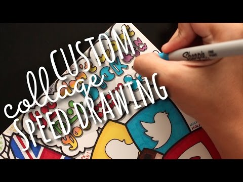 Custom Collage Speed Drawing | SimplyMaci