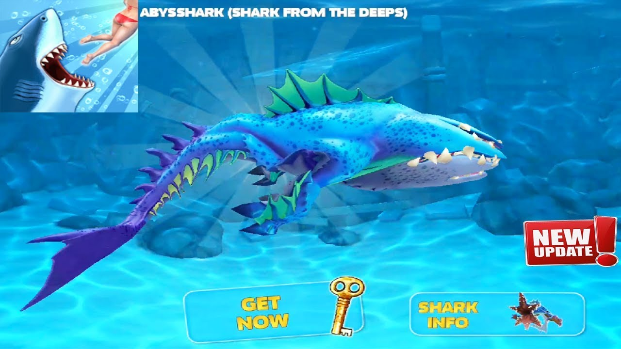 Hungry Shark Evolution Update New Shark Unlocked Abysshark Shark From The Deeps Android Gameplay Youtube