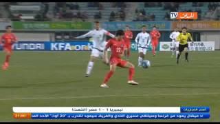 شاهد هدفي المنتخب الكوري الجنوبي ضد المنتخب الاولمبي الجزائري