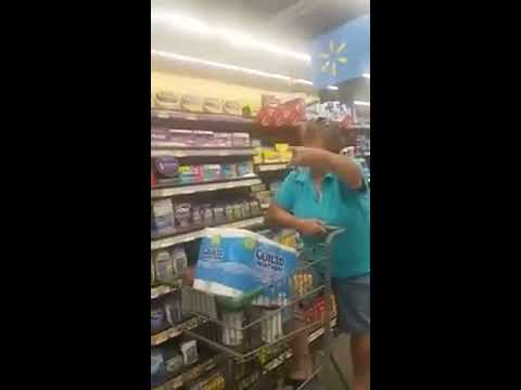 Racist trump supporter  Woman At Walmart Goes Off On A Latino Woman & Calls A Black Woman
