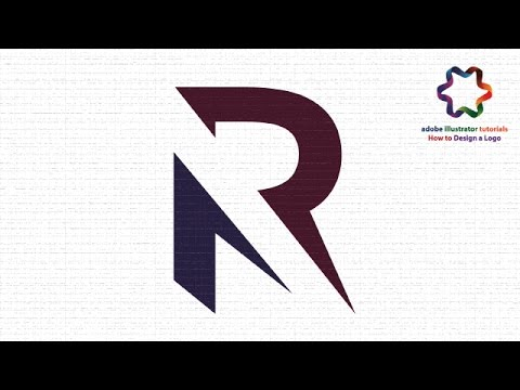 adobe illustrator cs6 how to custom letter r logo design illustratpr logo design tutorial youtube