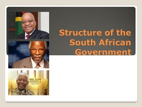 Structure of the South African Government (2014)