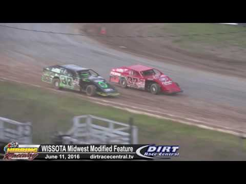 Hibbing Raceway 6/11/16 WISSOTA Midwest Modified Feature Highlights