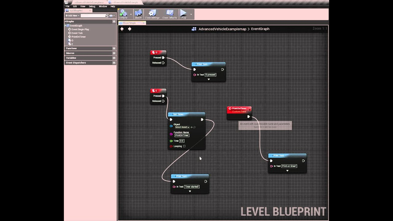 Unreal engine 4 setting timers on keypress in blueprint youtube unreal engine 4 setting timers on keypress in blueprint malvernweather Image collections