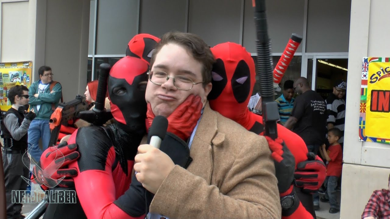 best interview ever deadpool bane and more at comic book best interview ever deadpool bane and more at comic book day