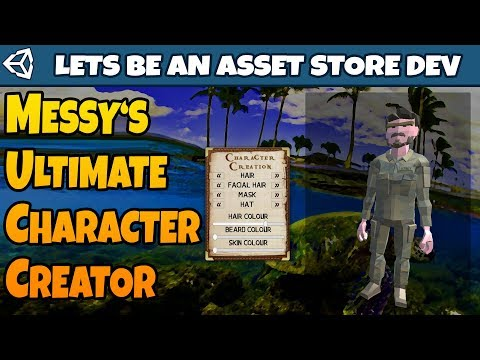 MUCC! Preview of My First Unity3D Asset Store Asset! Messy's Ultimate  Character Creator