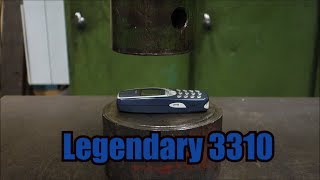 Crushing  Nokia 3310 with hydraulic press(Nokia 3310 vs. our press Music Thor's Hammer-Ethan Meixell., 2016-03-17T19:11:25.000Z)